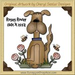 Roses Rover Single Graphics Clip Art Download