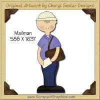 Mailman Single Graphics Clip Art Download