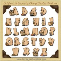 Thanksgiving Friends Alphabet & Numbers Clip Art Download