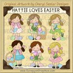 Hattie Loves Easter Limited Pro Clip Art Graphics
