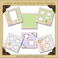 Sweet Baby Girl Paper Collection Graphics Clip Art Download