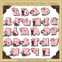 Annie Be Mine Alphabet & Numbers Clip Art Graphics