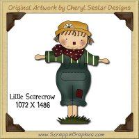 Little Scarecrow Single Graphics Clip Art Download