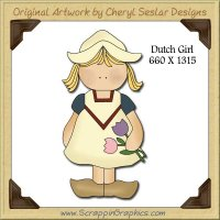 Dutch Girl Single Graphics Clip Art Download