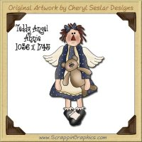 Teddy Angel Annie Single Graphics Clip Art Download