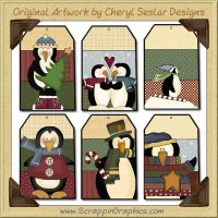 Penguin Tags Collection Printable Craft Download