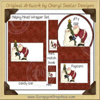 Helping Hand Wrapper Set Printable Craft Collection Graphics Cli