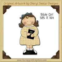 Bible Girl Single Clip Art Graphic Download