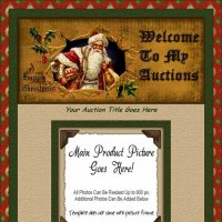 Vintage Santa & Holly Auction Template