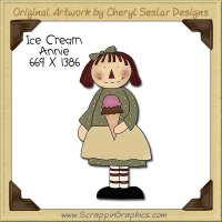 Ice Cream Annie Single Clip Art Graphic Download