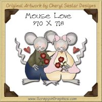 Mouse Love Single Graphics Clip Art Download