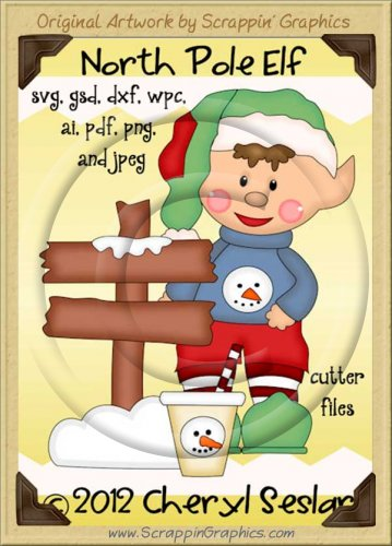 North Pole Elf Cutter Cutting Files Collection