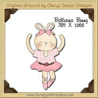 Ballerina Bunny Single Graphics Clip Art Download
