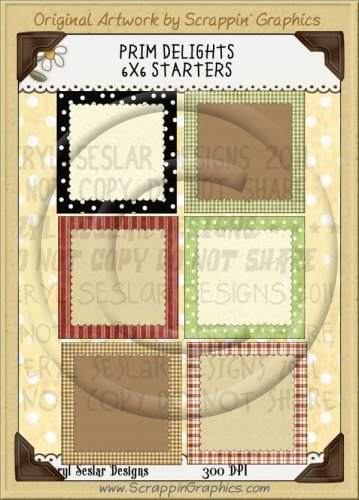 Prim Delights 6X6 Starters Limited Pro Clip Art Graphics
