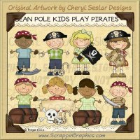 Bean Pole Kids Play Pirates Limited Pro Clip Art Graphics