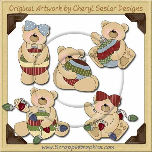 Ornament Bears Collection Graphics Clip Art Download