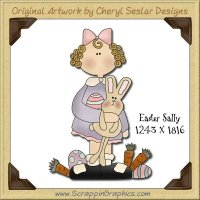 Easter Sally Single Graphics Clip Art Download