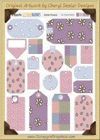 Easter Flowers Snippets Journaling Tags