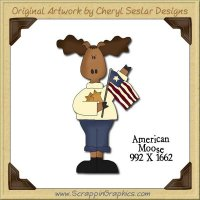 American Moose Single Graphics Clip Art Download