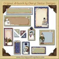 Snow People Journaling Delights Digital Scrapbooking Graphics Clip Art Download