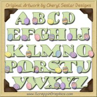 Spring Egg Alphabet & Numbers Clip Art Download