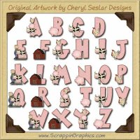 Farm Life Alphabet & Numbers Clip Art Download