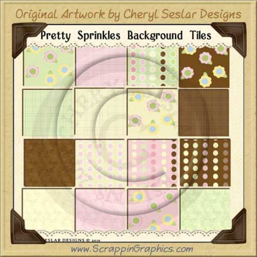 Pretty Sprinkles Background Tiles Clip Art Graphics