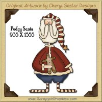 Pudgy Santa Single Graphics Clip Art Download