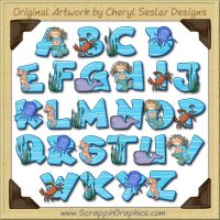 Sea Animals Alphabet & Numbers Clip Art Download