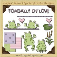 Toadally In Love Graphics Clip Art Download