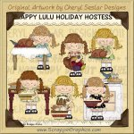 Happy Lulu Holiday Hostess Limited Pro Clip Art Graphics