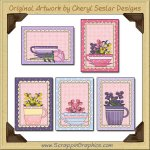 Pretty Teacups Cards Sampler Card Printable Craft Download