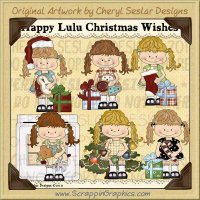 Happy Lulu Christmas Wishes Limited Pro Clip Art Graphics