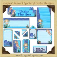 Sea Animals Journaling Delights Digital Scrapbooking Graphics Clip Art Download