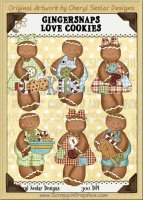 Ginger Snaps Loves Cookies Limited Pro Clip Art Graphics