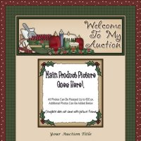 Christmas Cheer Candle Auction Template