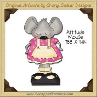 Attitude Mouse Single Clip Art Graphic Download