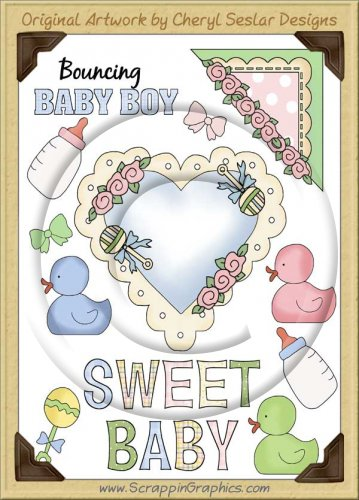Reseller - Sweet Baby Sticker Page Clip Art Graphics