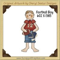Football Boy Single Graphics Clip Art Download
