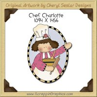 Chef Charlotte Single Clip Art Graphic Download
