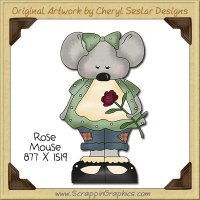 Rose Mouse Single Clip Art Graphic Download