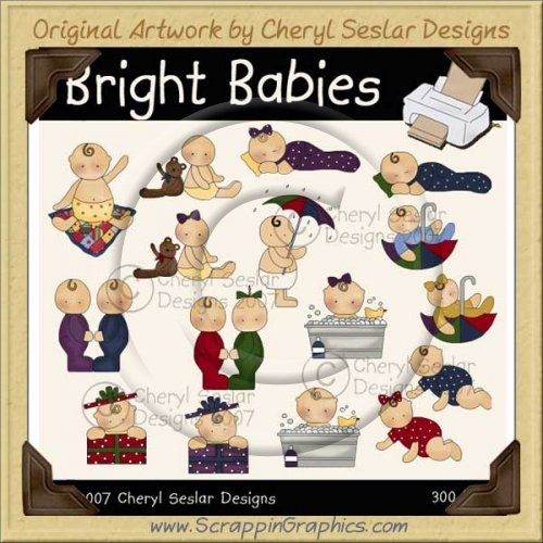 Bright Babies Clip Art Graphics Collection