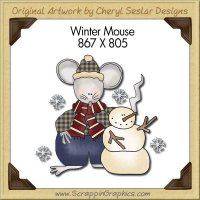 Winter Mouse Single Graphics Clip Art Download