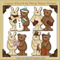 Fuzzy Friends Collection Graphics Clip Art Download