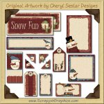 Snow Smile Journaling Delights Digital Scrapbooking Graphics Clip Art Download