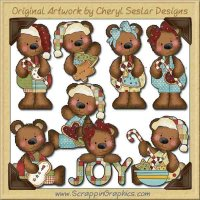 Raggedy Bears Christmas Treats Graphics Clip Art Download