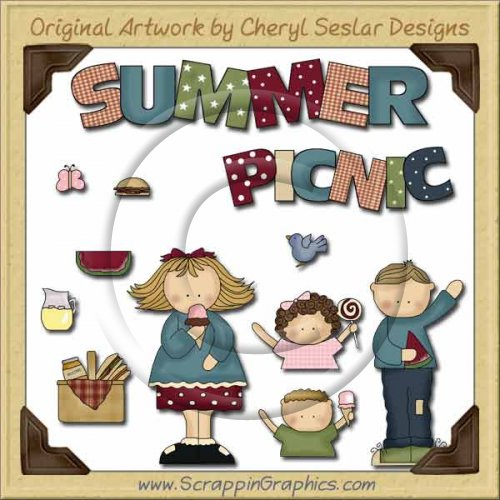 Picnic Fun Collection Graphics Clip Art Download