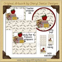 Teacher Wrapper Set Printable Craft Collection Graphics Clip Art