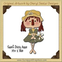 Sweet Daisy Annie Single Graphics Clip Art Download