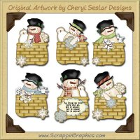 Snowman Baskets Clip Art Download
